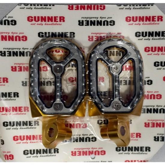 FM Racing/Gunner removable ergal footpegs Gold EL54520211DS Suzuki RMZ 250 2010-2018, RMZ 450 2008-2018, RMX 450Z 2010-2018